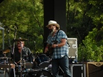 Steve Earle leading his band The Dukes at Red Butte Garden Sunday night.