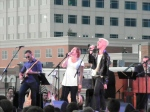 "The Neon Tree's Elaine Bradley and Tyler Glenn doing ""Stop Draggin' My Heart Around."""