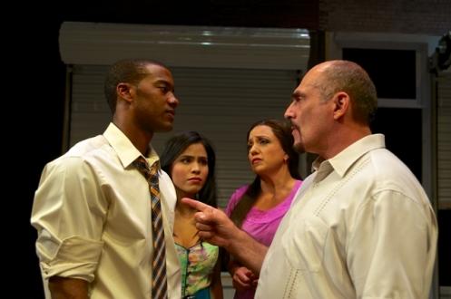 L-R: Joshua Boone (Benny), Emily Vaquez (Nina), Natalie Toro (Camila) and John Herrera (Kevin). Photo by Alexander Weisman.