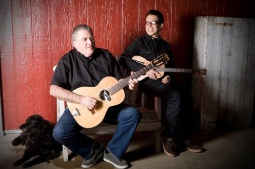 David Hidalgo, left, with his Los Lobos bandmate Louie Perez. Hidalgo plays with Alejandro Escovedo at The State Room on Friday, Dec. 7