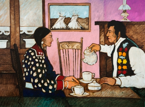 """Tea Party,"" by Kevin Red Start of Montana's Crow Nation."