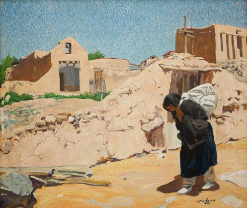 "Walter Ufer's ""Washer Woman,"" from the Collection of Diane and Sam Stewart."