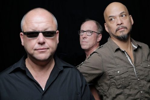 (left to right) Frank Black, David Lovering, Joey Santiago of The Pixies