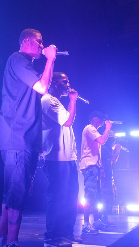 (left to right) Chali 2Na, Zaakir, Marc 7 and Akil of Jurassic 5